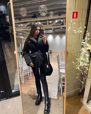 Публикация c товаром Куртка арт.J1020002 Цвет: Черный бренда YOU в Instagram